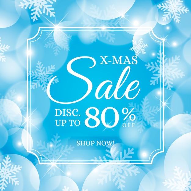 Verschwommene weihnachten sonderverkauf Kostenlosen Vektoren