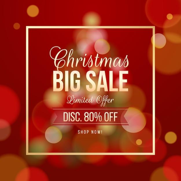 Verschwommene weihnachtsverkaufsangebot Kostenlosen Vektoren