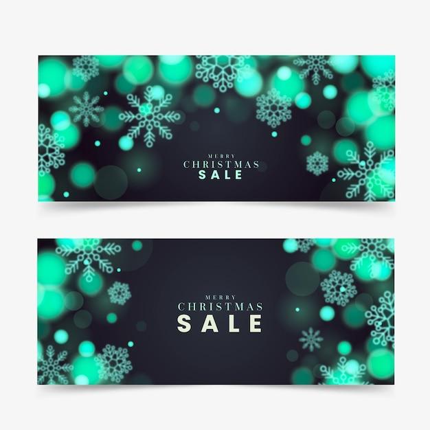Verschwommene weihnachtsverkaufsbanner Kostenlosen Vektoren