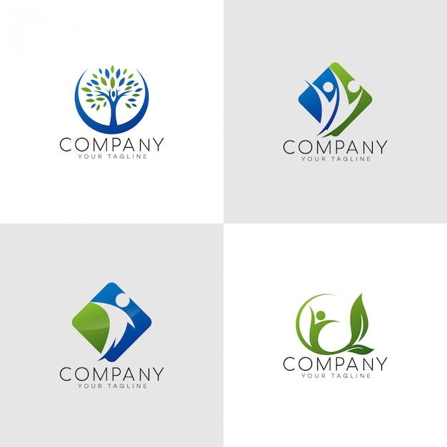 Versicherungs-glückliches familien-logo Premium Vektoren