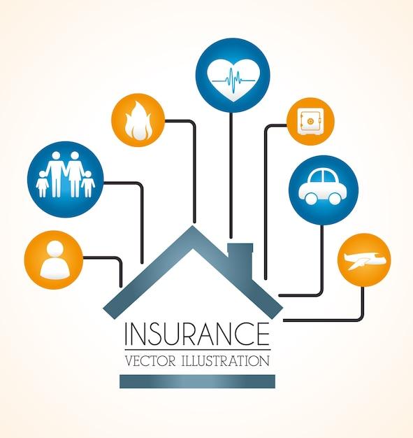 Versicherungsdesign Premium Vektoren