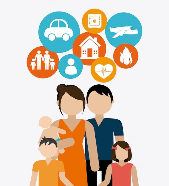 Versicherungsdesign. Premium Vektoren