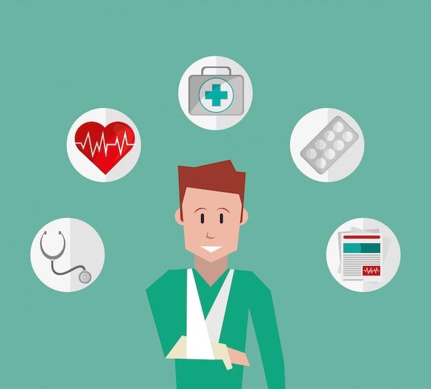 Versicherungsdienstleistungen bezogenen ikonen bild Premium Vektoren