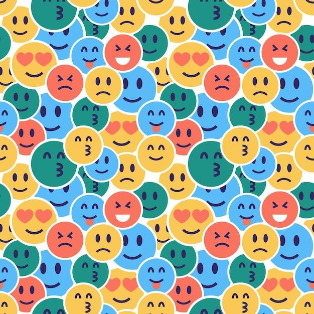 Versteckte emoticons mustervorlage Kostenlosen Vektoren