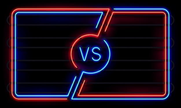 Versus neonrahmen Premium Vektoren