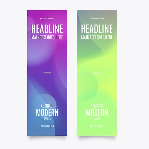 Vertikale moderne banner vorlage Kostenlosen Vektoren