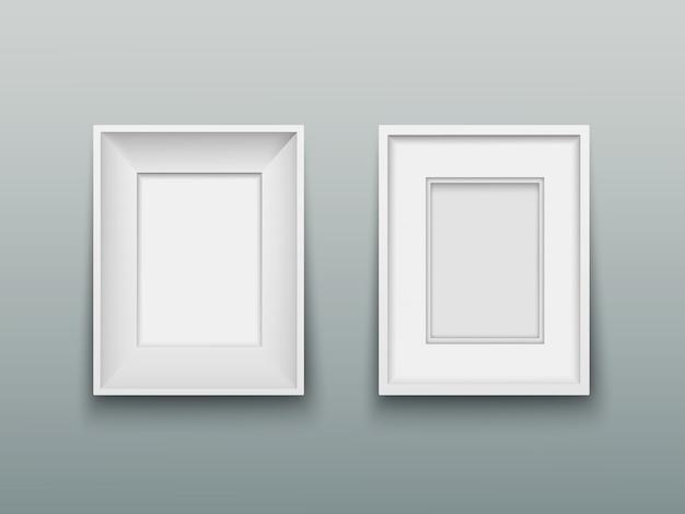 Vertikaler rahmen für fotos oder gemälde an der wand Premium Vektoren