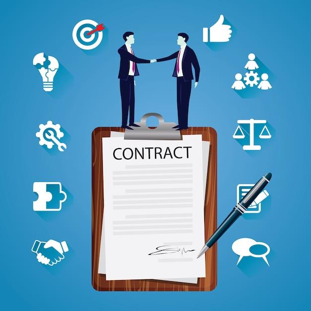 Vertragsunterzeichnung legal agreement concept. vektor-illustration Premium Vektoren