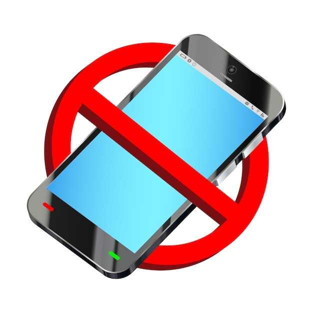 Verwenden sie kein smartphone verbotszeichen vektor Premium Vektoren
