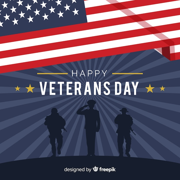 Veterans tag hintergrund Kostenlosen Vektoren