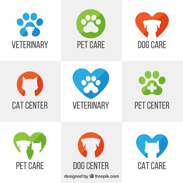 Veterinär-Logo-Vorlagen Kostenlose Vektoren