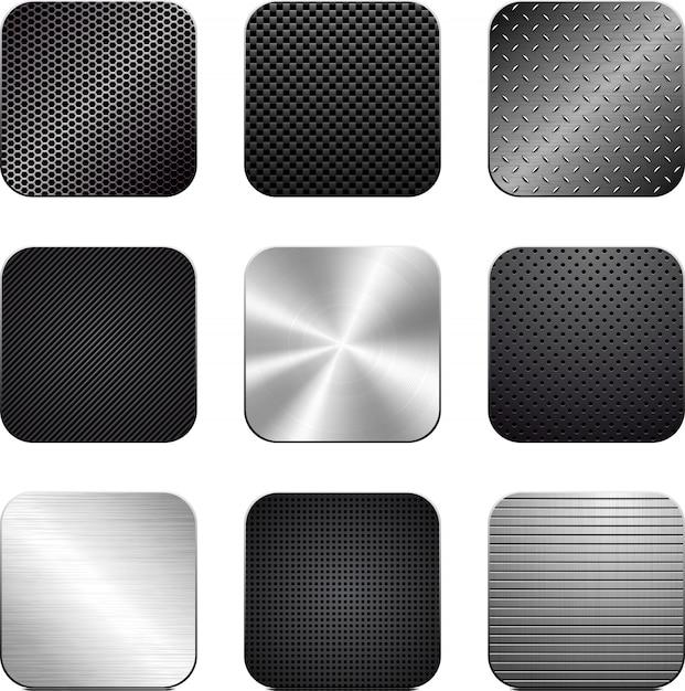 Vextor satz von strukturierten apps. Premium Vektoren