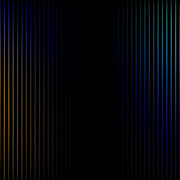 Vibrierende linien auf schwarzem hintergrundvektor Kostenlosen Vektoren
