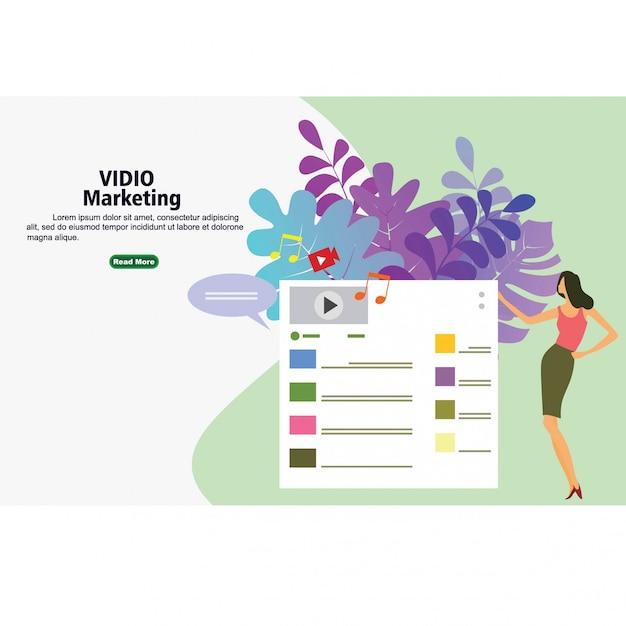 Videomarketingstrategie Premium Vektoren