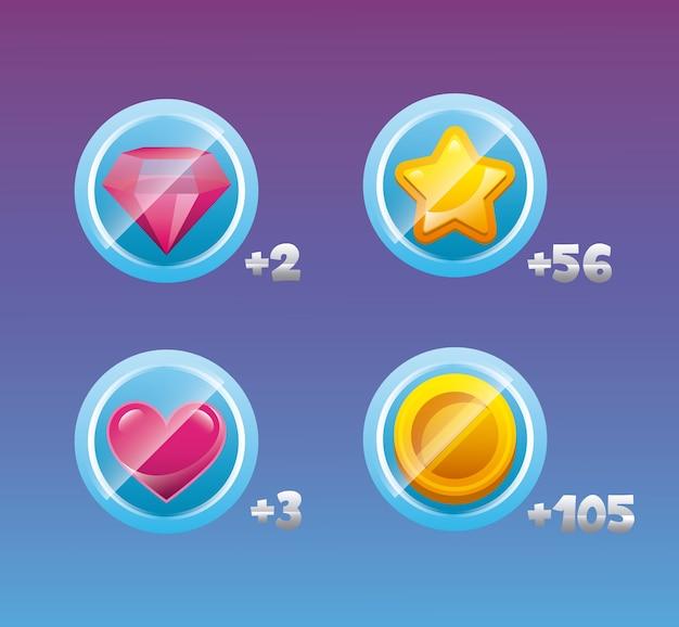 Videospiel-interface-design Premium Vektoren
