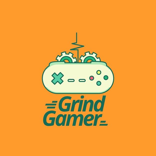 Videospiel-logo-vorlage mit moderner stil Kostenlosen Vektoren