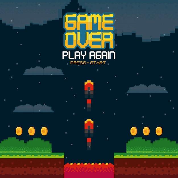 Videospiel über konzept Premium Vektoren