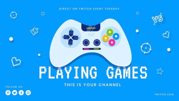 Videospiel youtube cover Kostenlosen Vektoren