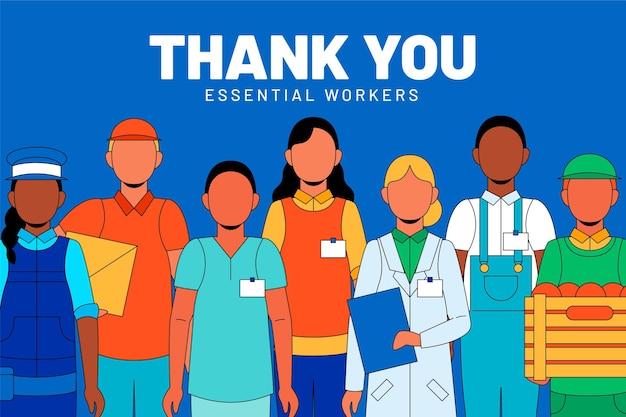 Vielen dank an wichtige mitarbeiter Kostenlosen Vektoren