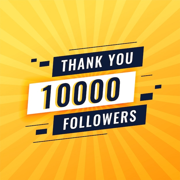 Vielen dank für 10.000 social-media-follower Kostenlosen Vektoren