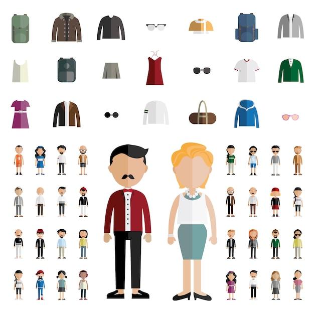 Vielfalt der menschheit Kostenlosen Vektoren