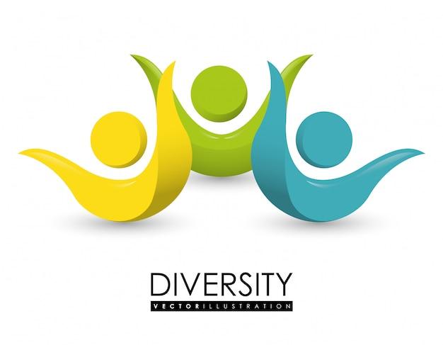 Vielfalt menschen gestalten Premium Vektoren