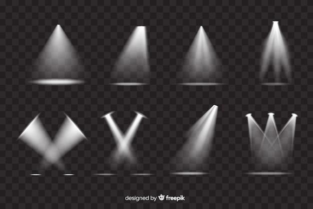 Vielzahl der theaterscheinwerfersammlung Premium Vektoren