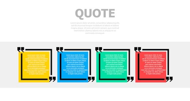 Vier bunte bereiche für text. oben ist ein grauer text. Premium Vektoren
