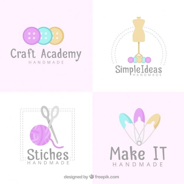 Vier Logos für das Handwerk   Download der kostenlosen Vektor