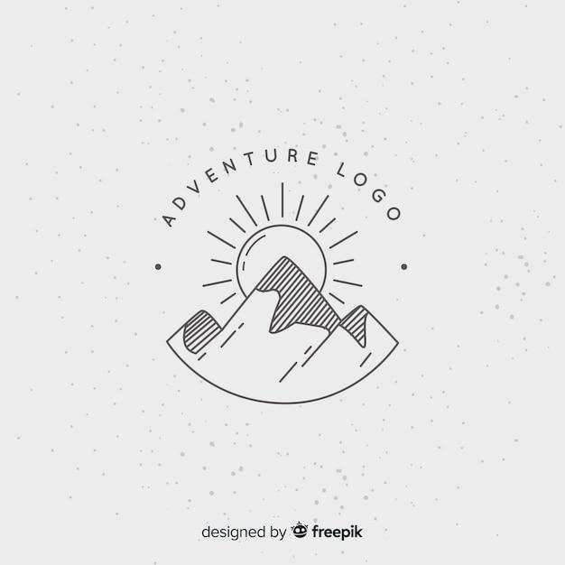 Vintage abenteuer logo Kostenlosen Vektoren