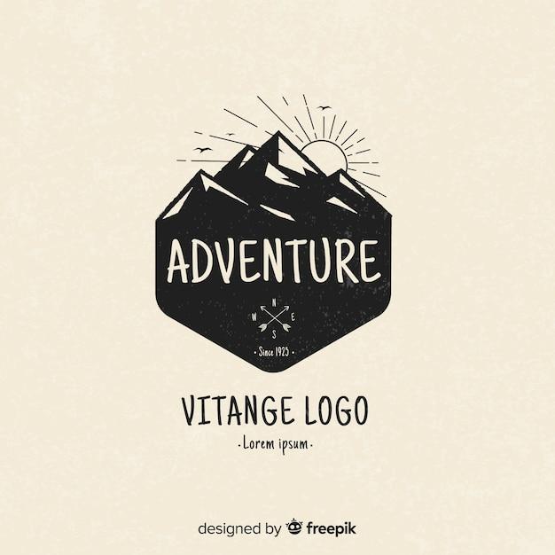 Vintage abenteuer logo Premium Vektoren
