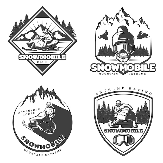 Vintage active leisure logo set Kostenlosen Vektoren