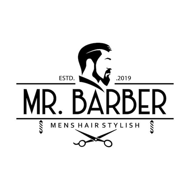 Vintage barbershop logo vorlagen Premium Vektoren