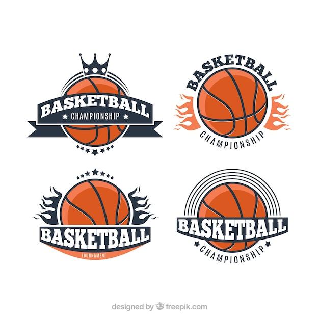 Vintage basketball-turnier-logo Kostenlosen Vektoren