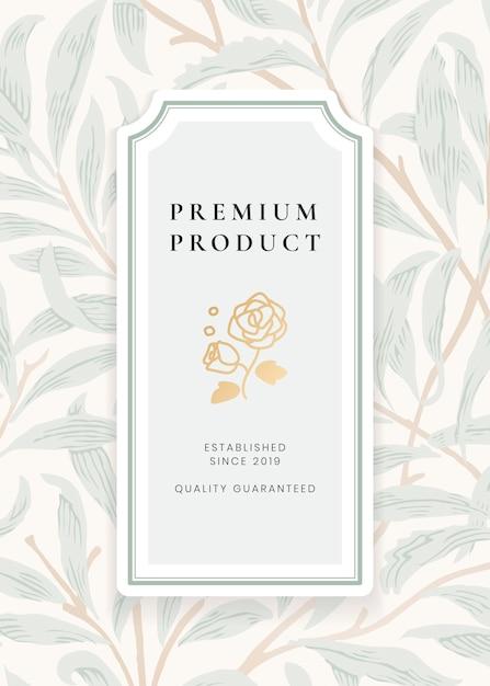 Vintage botanische etikettenvorlage Kostenlosen Vektoren