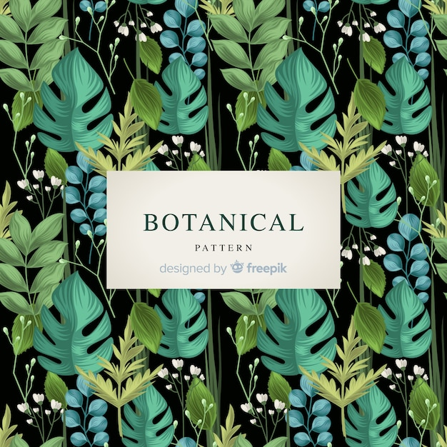 Vintage botanische muster Kostenlosen Vektoren