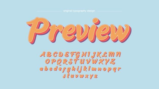 Vintage bunte handgeschriebene typografie Premium Vektoren