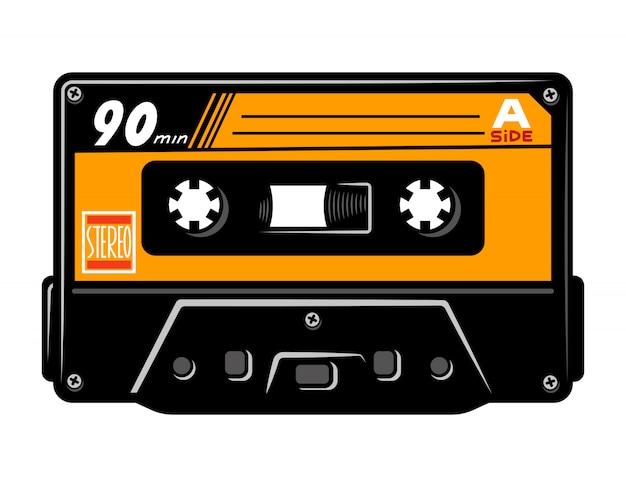 Vintage buntes audio-kassettenkonzept Premium Vektoren