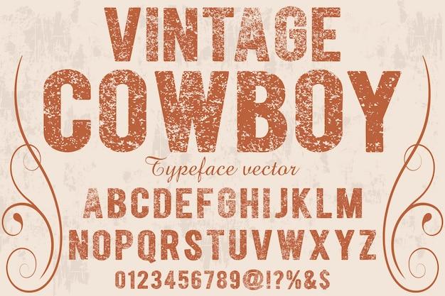 Vintage cowboy des gusses schatteneffekt Premium Vektoren
