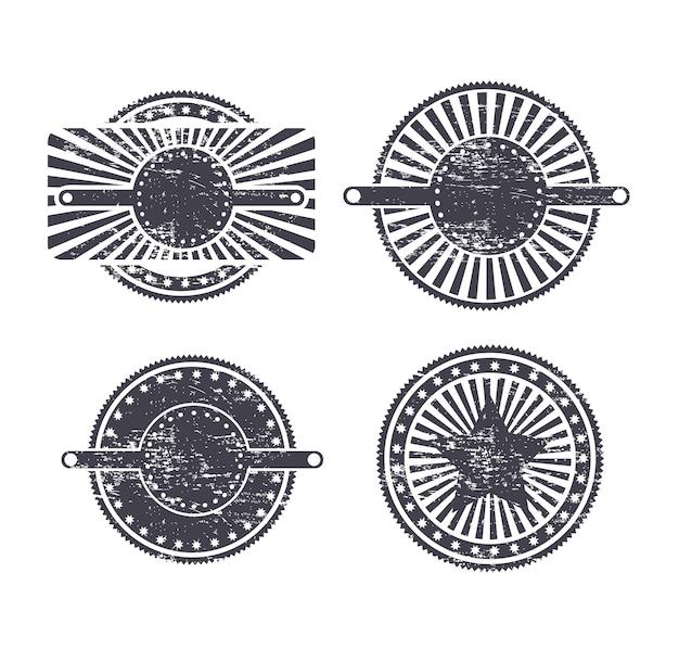 Vintage dichtungen Premium Vektoren