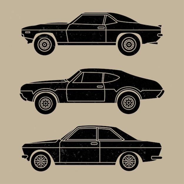 Vintage diecast spielzeugautos Premium Vektoren