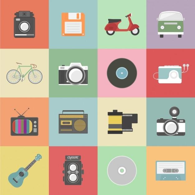 Vintage-elemente sammlung Kostenlosen Vektoren