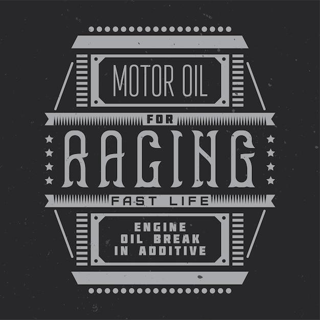 Vintage-etikett mit schriftzugzusammensetzung Kostenlosen Vektoren