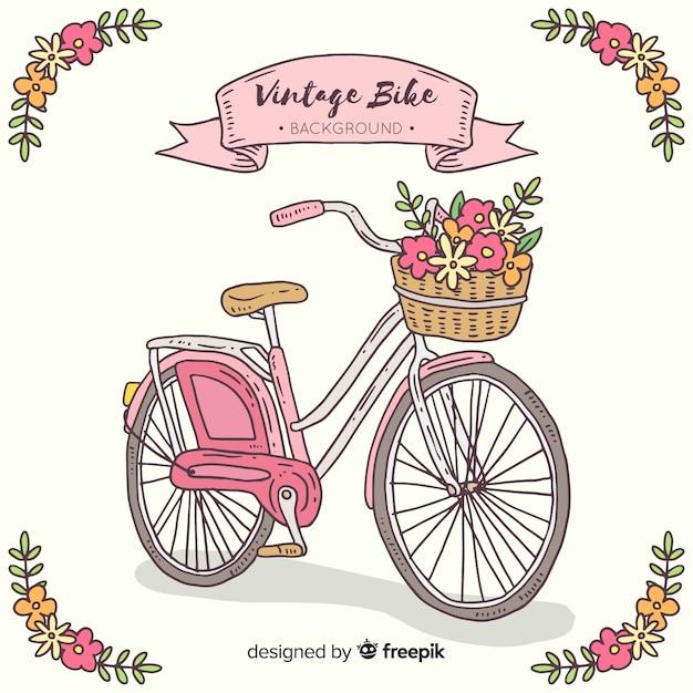 Vintage fahrrad hintergrund Kostenlosen Vektoren