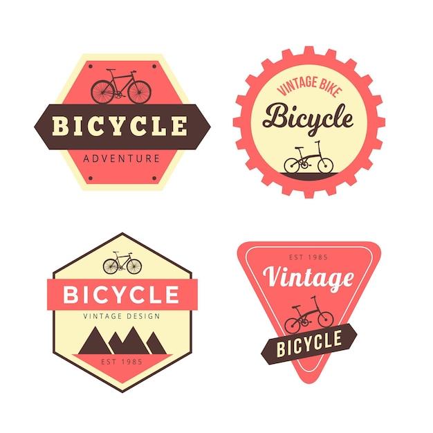 Vintage fahrrad logo sammlung Kostenlosen Vektoren