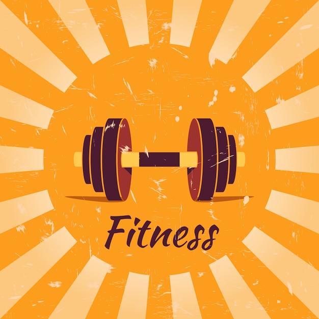 Vintage fitness plakat hintergrund Premium Vektoren