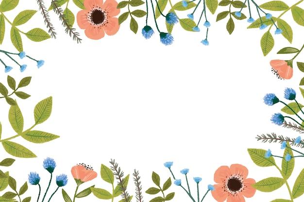 Vintage floral hintergrund Kostenlosen Vektoren