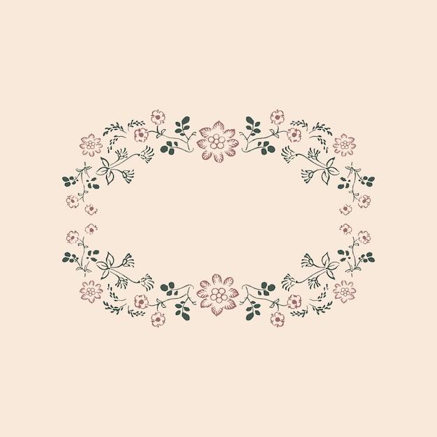 Vintage floral ornament rahmen Kostenlosen Vektoren