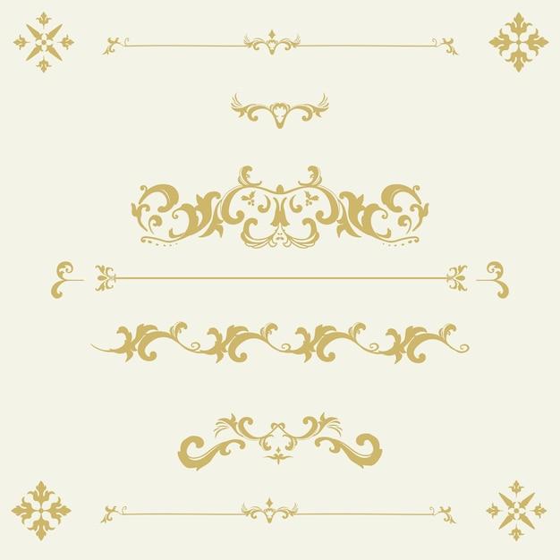 Vintage flourish ornament rahmen vektor Kostenlosen Vektoren