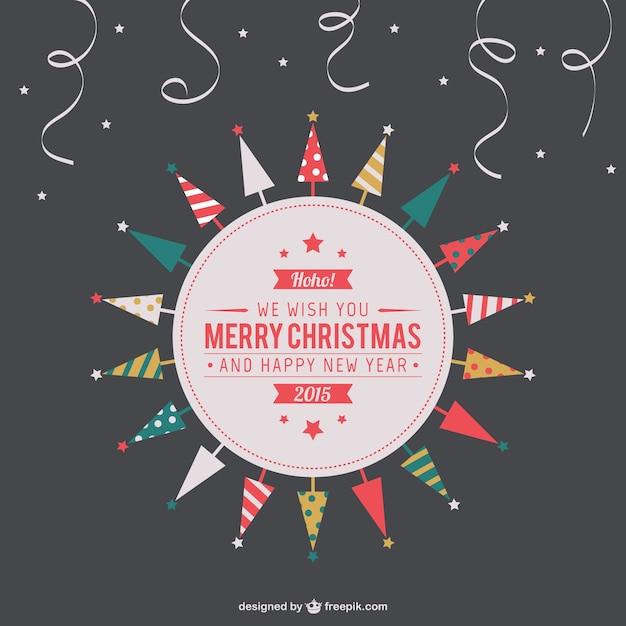 Frohe Weihnachten Download.Vintage Frohe Weihnachten Label Download Der Kostenlosen Vektor